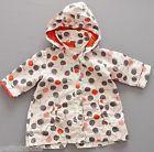 Veste à capuche cirée cerises doublée jersey rouge Obaïbi 12 mois filles