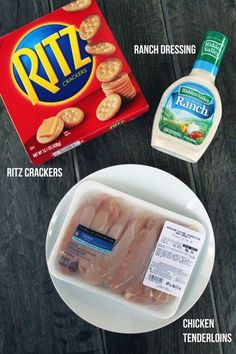 Easy 3-Ingredient Ritz Cracker Chicken | www.mylifeasamrs.com RECIPES NOTES: a tasty, low WW point chicken variations. It's a perfect week night meal with a salad bc it's SO easy. The leftovers aren't quite as good bc the crackers get a little soggy, but still worth it.