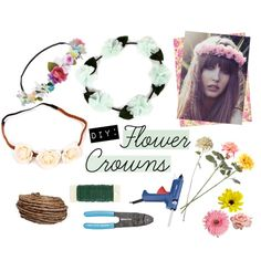 """""""DIY: Flower Crowns"""" by windsorstore on Polyvore"""