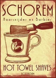 vintage hot towel & a shave