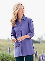 Foxcroft Button Front Tunic and other Womens Woven Tops. | Willow Ridge