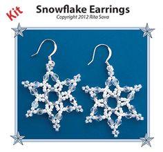 Snowflake Earring Beading Kit at Sova-Enterprises.com