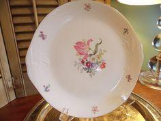 VINTAGE CHINA PLATTER Floral Design Two by VintageCreativeAccen