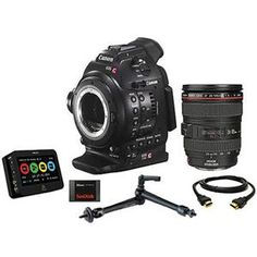 Canon EOS C100 Cinema Camcorder Kit with EF 24-105mm f/4L IS USM Zoom Lens