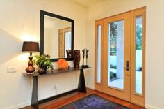 entry way with sweet table