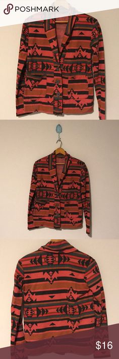 """Urban Outfitters """"Truly Madly Deeply"""" Sweater NWOT Aztec print button down sweater! Lightweight and never worn! Runs a little small but super adorable over dresses! Urban Outfitters Sweaters Cardigans"""