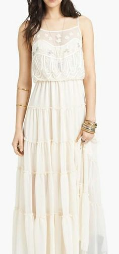 Boho White Festival Maxi Dress