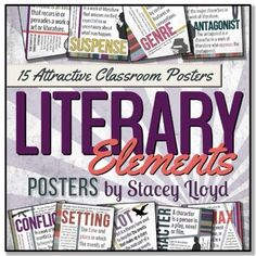 WAIT! You can buy this product in my LITERARY ELEMENTS BUNDLE & *SAVE* 20%!**************************************************************************15 LITERARY ELEMENTS POSTERS {Letter Size}These colorful posters will brighten up your classroom and help remind your students of these different literary elements.
