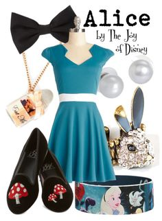 Outfit inspired by Alice from Alice in Wonderland!