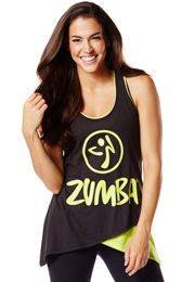 Two-Tone Long Loose Tank |Save 10% on Zumba® wear on zumba.com. Click to shop with 10% discount http://www.zumba.com/en-US/store/US/affiliate?affil=10sale