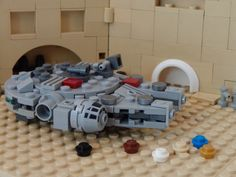 https://flic.kr/p/rCpCAD | Millennium Falcon (scene) | Who isn't excited about the new Star Wars movie? Me definitely not! I'm a great fan of Star Wars, and I can't wait for the seventh one. So to combine two hobbies I made this mini Millennium Falcon, parked in Mos Eisley.