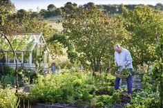 The kitchen garden at Allt-y-bela, Monmouthshire, United Kingdom