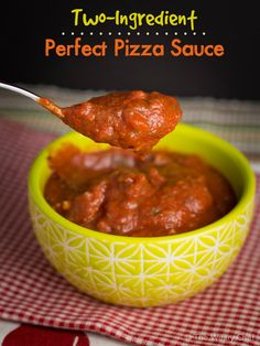 Two-Ingredient Easy Pizza Sauce Recipe