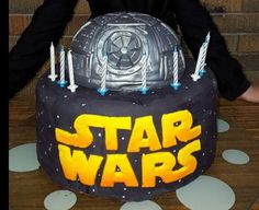 Star wars and death star cake.   Buttercake top and chocolate mud bottom teir.  My son was over the moon with this one.