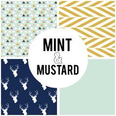 Custom Crib Bedding Mint & Mustard by IndianaThreads on Etsy, $325.00