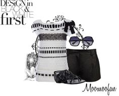 """""""Black and White"""" by moomoofan1972 on Polyvore"""
