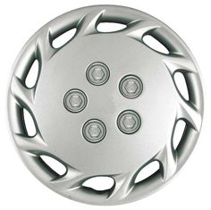 CCI IWCB87714S 14 Inch Clip On Silver Finish Hubcaps Pack of 4 -- Continue to