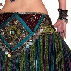 bustle-belt-size-m-l-purple-yarn-flower - Google Search