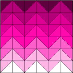 Easy chevron quilts - doyoueq.com Like the ombré idea. Maybe with grey in between to break it up