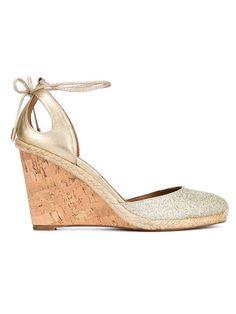 c6ff15a6971d AQUAZZURA Palm Beach Glitter Espadrille Wedge Sandals.  aquazzura  shoes   sandals