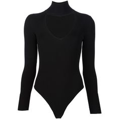 Black open neck fitted body from Cushnie Et Ochs. Color: Black. Gender: Female. Age Group: Adult. Material: Rayon/Polyester.