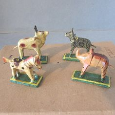 Vintage Box 12 Germany Composition Stick Animal Christmas Nativity Putz Noah Ark | eBay