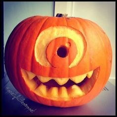 Most popular tags for this image include: Halloween, pumpkin carving, halloween decor, monster inc and mike wazowski