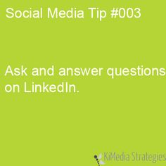 LinkedIn Questions and Answers Help You Showcase your Knowledge #SWTampa