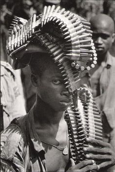 Igbo Soldier during the Nigerian Civil War, November, 1968     Photographer: Gilles Caron