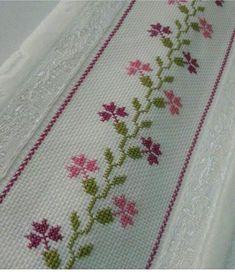 Cross Stitch Bookmarks, Cross Stitch Heart, Cross Stitch Borders, Cross Stitch Flowers, Modern Cross Stitch, Cross Stitch Designs, Cross Stitching, Cross Stitch Patterns, Hand Embroidery Design Patterns