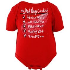 Old Time Hockey Detroit Red Wings Infant Galore Creeper - Red