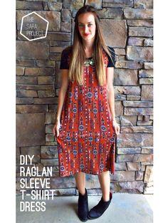 raglan dress with pattern