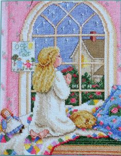 """Little Princess - Bedtime Prayer"" cross stitch pattern by Paula Vaughan"