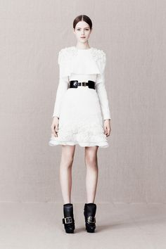 This dress feels like Red Valentino image. Except for the boots.    Alexander McQueen pre fall '13