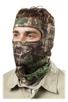 RedHead® Spandex 3/4 Face Mask   Bass Pro Shops #menshuntinggear #menscamo #camomask #turkeyhunting