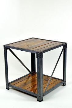 Gran mesa final Industrial reciclado madera