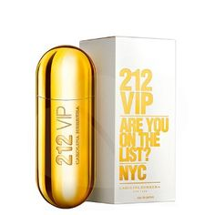 212 Vip - Carolina Herrera *Top notes: To be consumed to your heart's content - Bitter orange, Exotic passion fruit; *Middle notes: An exceptional aura - Overwhelming musk, Distinguished gardenia, Intoxicating Rum; *Bottom notes: An unique allure with great style - Feminine vanilla, Sensual tonka bean, Benzoin.