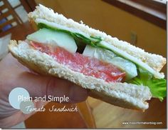 Summer time is perfect for an old fashioned tomato sandwich #sandwich #tomato