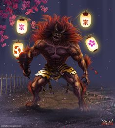 Anima: Lantern Oni by `Wen-M on deviantART
