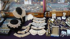 More of our pearl collars from the 1930's through the 1950's at Hell's Kitchen Flea Market's Wildpalm Vintage Jewels.