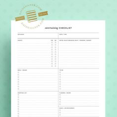 """FREE for a limited time, this Entertaining Checklist printable download from Day Designer® helps organize your party or event plans all in one place. Designed to print on a standard 8.5 x 11"""" sheet of paper!"""