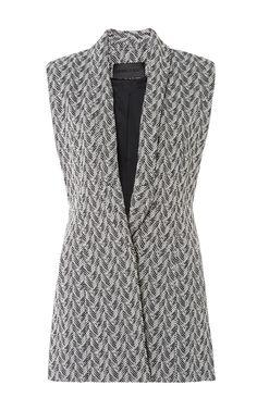 Cotton Tweed Black And White Top by Cushnie et Ochs