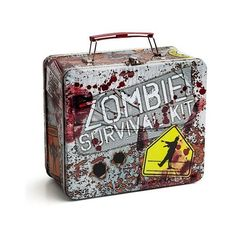 Zombie Survival Kit Lunch Box (100 BRL) ❤ liked on Polyvore featuring home, kitchen & dining, food storage containers and bags