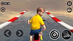 Impossible kids Motorbike Racing Bike Jump Rider / Android Gameplay Video