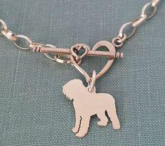 Black Russian #Terrier #dog Chain Bracelet Sterling Silver by DiBAdog