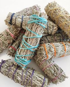 Burning blue sage has healing properties that can drive out negative energies Smudge Sticks, Scented Candles, Smudging, Sage, Healing, Design, Salvia, Therapy, Design Comics