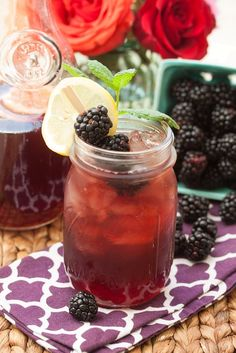 Healthy and refreshing Backberry Sweet Tea...great on a summer afternoon!