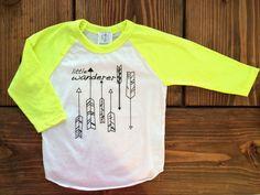 Little Wanderer Shirt Toddler tshirt Trendy kids by SandiLake, $15.00