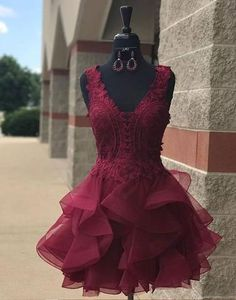 Burgundy short prom dress, homecoming dress  shop now