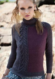 Вязание крючком и спицами - Пуловер-водолазка с рукавами реглан